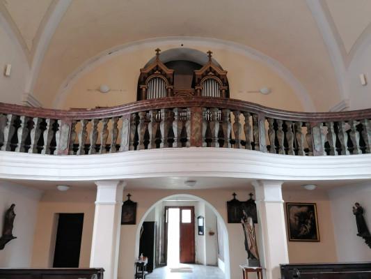 Veltrusy, kostel Narození sv. Jana Křtitele / varhany
