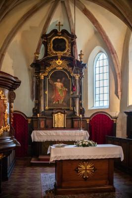 Nelahozeves, kostel sv. Ondřeje / interier kostela