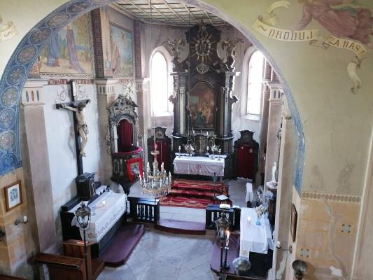 Nová Ves - Vepřek, kostel Narození Panny Marie / interier kostela