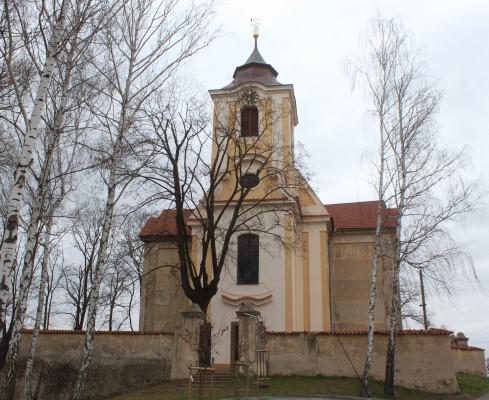 Máří Magdaléna 2021 / Pohled na kostel sv.Máří Magdaleny od západu / Autor fotografie: Ing.Josef Čermák,PhD.