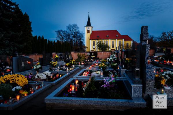 Kostel / Farní kostel ve Vacenovicích zasvěcený Božskému Srdci Páně je nejvyšší dominantou obce.