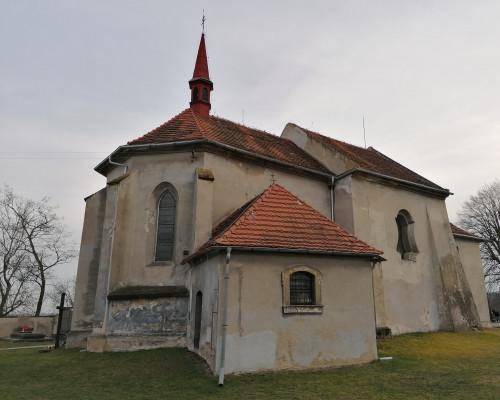 Nová Ves - Vepřek, kostel Narození Panny Marie / pohled na kostel