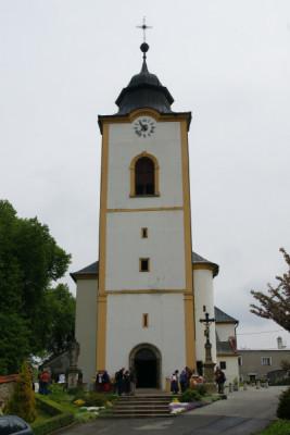 Velká Bystřice, kostel Stětí sv. Jana Křtitele