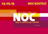 Vizuální styl Noci kostelů 2019